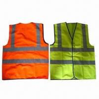 Buy cheap Safety Vests, EN471/EN343 Standard, Made of 100% Polyester Knitted Fabric from wholesalers