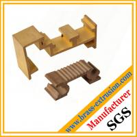 golden color brass extruded profile sections for windows and doors
