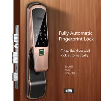 Wholesale Aluminum Alloy Fingerprint Door Lock , Electric Glass Doors With LCD Screen from china suppliers