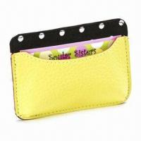Wholesale Card Holder, Made of Genuine Leather, Measures 11 x 7.5cm, Various Colors are Available from china suppliers