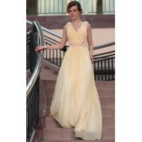 Wholesale Floor Length V-neck Straps Flower Bodice Mature Evening Modern Bridesmaids Dresses -30660 from china suppliers