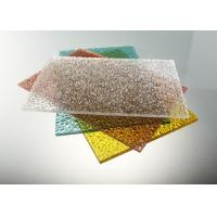 China Good Strength Diamond Clear Polycarbonate Sheet / Uv Polycarbonate Panels Color Stable on sale
