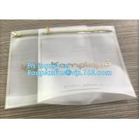 China US Dollars ziplock bag with slider, cloth bag boutique packaging slide zip lock plastic bag with slider, Consumer Produc on sale