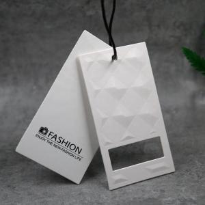 China Custom Garment Clothing Hang Tag Paper Card Printing Recycled Materials on sale
