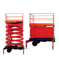 Wholesale 5T 18m Ladder Trailing Hydraulic Scissor Lift Platform from china suppliers