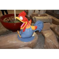 Wholesale animal statue  mascot rooster statue or cartoon dog in garden/ plaza/ shopping mall for attraction from china suppliers