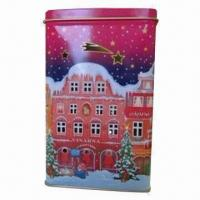 Wholesale Candle can for Christmas, made of 0.21mm tinplate from china suppliers