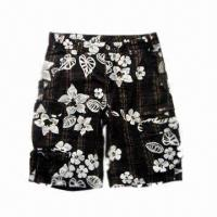 Wholesale Men's Casual Cargo Shorts with Yarn Dyed/Printed Cotton/Polyester Check Canvas, Dye-in-pc Used Wash from china suppliers