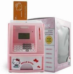 China ATM/Money Bank/ATM Live voice/Hello Kitty cash deposit machine   on sale