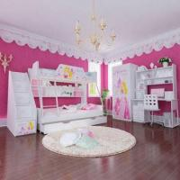 Wholesale E0 Grade Kids' Bunk Bed Furniture, Children Furniture, Home Product, Ladder Chest, Disney, Princess from china suppliers