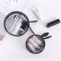 Wholesale Transparent PVC Cosmetic Bag , Clear Cosmetic Organizer Bag Custom Made from china suppliers