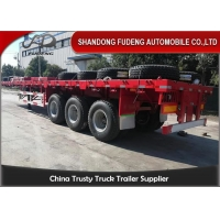 Buy cheap Air Suspension 40 Foot 3 Axles Flatbed Container Trailer from wholesalers
