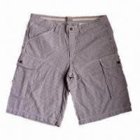 Wholesale Men's Casual Shorts, Made of 100% Cotton Yarn Dyed Seersucker from china suppliers