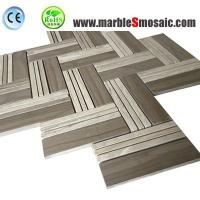 China Xiamen Professional Marble Mosaic Factory Supply  Grey Color Athens Marble Mosaic Tile products to floor and wall on sale