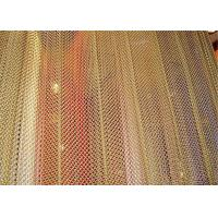China Aluminum Metal Mesh Curtains Screen Size Customized For Hotel And Restaurant on sale