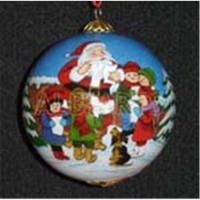 Wholesale Santa claus christmas ball,inner santa claus christmas glass ball,custom santa claus glass ornaments from china suppliers