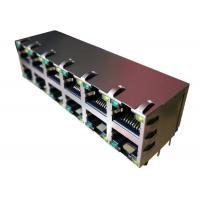 China 0879-2C6R-54 Stacked 2x6 Conn Magjack 12Port 1000 Base-T Shielded EMI Finger on sale