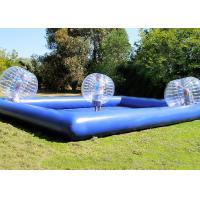 China Custom Outdoor Inflatable Toys Funny Blow Up Body Bumper Balls Arena With Pool For Family on sale