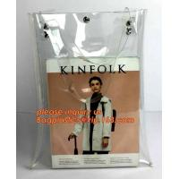 Wholesale pvc shopping jelly bag promotional pvc duffle bag with handle, rope handle pvc reusable plastic shopping bag, promotiona from china suppliers