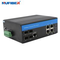 Wholesale IP44 4 Port Managed Industrial Switch With 4 Sfp 4 KV Ethernet Surge Protection from china suppliers