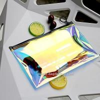 Wholesale Holographic Clear PVC Cosmetic Makeup Bag Holographic Lady Travel Storage Bag from china suppliers