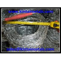 1.6mm 7.5kg hot dip galvanized double twist barbed wire used in wire fencing on the top