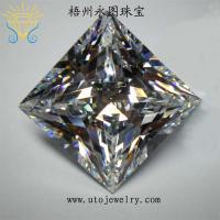 cubic zirconia shining AAA quality ,princess cut zirconia