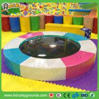 China Round Kids water bed water trampoline for toddler play zone with LED light indoor soft play equipment on sale