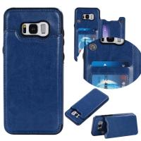 Wholesale Dark - Blue Galaxy S8 Plus Wallet Case Crazy Horse Business Use With Holder Function from china suppliers