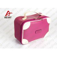 Wholesale Matte Lamination Leather Pink Customized Paper Box With Handle OEM /ODM Avaliable from china suppliers
