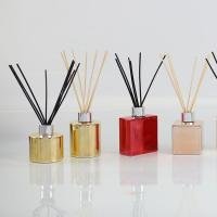 Wholesale Electroplating Bottle Home Scent Diffuser / Luxury Reed Diffuser With Customized Box from china suppliers