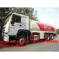 China HOT SALE!high quality and bottom price SINO TRUK HOWO 20,000Liters bulk oil tank truck/ diesel tank delivery truck on sale