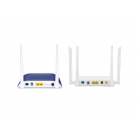 Wholesale Universal 2GE POTS WIFI Dual Band FTTH ONU 802.11 AC 4T4R Support GPON EPON Self Adaptive from china suppliers