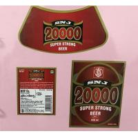 Wholesale Custom Made Self Adhesive Beer Labels Square Matte / Glossy Lamination from china suppliers