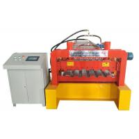 China Galvanized Steel Deck Forming Machine , Floor Tiles Manufacturing Machines Chain Size 2 Inch on sale