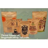 Wholesale STAND UP POUCHES SPOUT POUCHES SIDE GUSSET BAGS PAPER BAGS 3 SIDE SEAL POUCH BLOCK BOTTOM BAGS JERKY BAGS BIODEGRADABLE from china suppliers