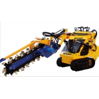 China Private Garden Trencher 58L/Min 23hp Skid Steer Loader on sale