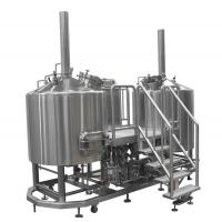 Wholesale AISI 304 Pub Brewery Equipment , 15 BBL Steam Heated Brewhouse For Brewing Institute 3mm from china suppliers
