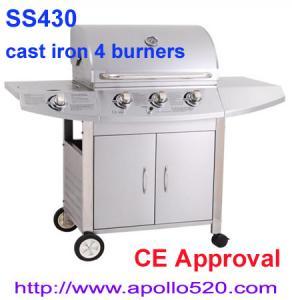 Freestanding 3 Burner Gas Barbecue with side burner