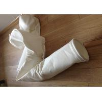 China Stainless Steel Ring Micron Filter Bags Easy Cleaning For Cement Plant on sale