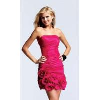 China Red Strapless Homecoming Dress on sale