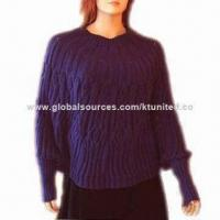 China Knitted Shawl, Made of Acrylic Yarn Reverse, Weighs 150g on sale
