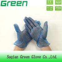 Wholesale blue Stretchable S , M , L , XL food vinyl gloves 100% Non-sterile from china suppliers