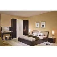 MDF Structure Rustic Wood Frame Bed For Mens 1700 * 2180 * 870MM Size