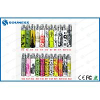 China Pattern Paper EGO E Cig Batteries 1100mah With LED Light on sale