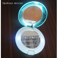 China Hight quality round double sided compact mirror with LED lights on sale