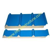 China Color Steel Polyurethane Sandwich Panel Metal Roofing Sheets Board Insulation on sale