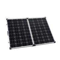 China High Efficiency Solar Panel Waterproof 2 x 100W Low Iron Tempered Glass on sale