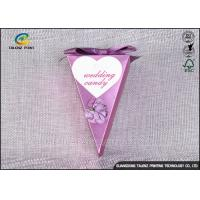 Wholesale Small Purple Decorative Gift Boxes , Chocolate Candy Boxes Triangle Shaped from china suppliers