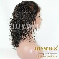 Wholesale fashionable brazilian human hair kinky curly full silk cap lace wig from china suppliers